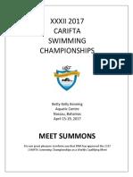 Carifta 2017 Meet Info