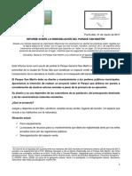 Informe Parque San Martin