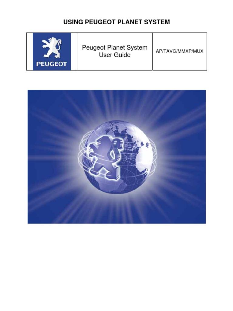 peugeot planet installation manual