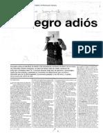 12. El negro adios - RADAR Pagina 12 $0.25