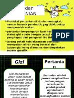GIZI Dan Pertanian