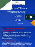 Problemas de Alimentacion en Jovenes Univer.. en El Ecuador