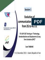 Evolution of Evolution of communication technology communication technology from 2G to 4G LTE