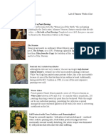 list of famous paintings