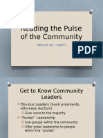 reading the pulse of the community