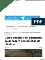 Cómo Construir Un Calentador Solar Casero Con Botellas de Plástico
