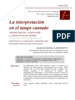 Interpretacion Tango