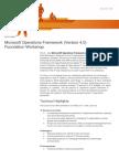 Microsoft Operations Framework(v4.0) Foundation Workshop(3Days)