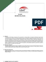 BIOECOLOGÍA - SÍLABO