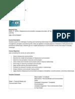 Interpersonal Communication Syllabus
