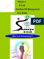 Shaurya-E-Cell @ Asia Pacific Institute of management