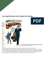 Los Superhéroes de La Cultura de Masas _ Escritos Críticos