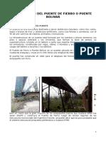 Descripcion Del Puente de Fierro o Puente Bolivar