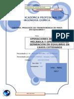 PROCESO DE TRANSFERENCIA DE MASA
