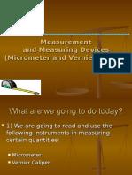 Vernier and Micrometer