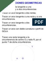 Construcciones geometricas RECTAS Y ARCOS TARGENTES, PERFIL DE GOLA