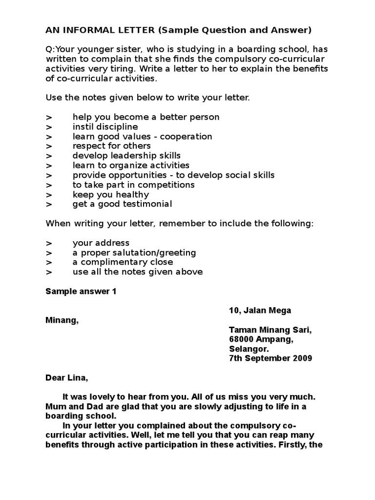 An informal letter exercise leadership mentoring leadership spiritdancerdesigns Image collections