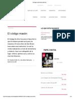 El código masón Revista Qué Pasa