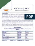 3508 Gulf Harmony AW 68 Data