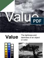 copy of element of art - value  1