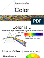 elements of art - color  student