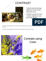 principles of design - contrast  student