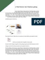 Cara Menentukan Nilai Resistor Dari Membaca
