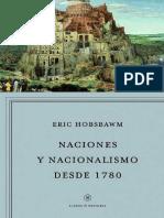 Naciones y Nacionalismo Desde 1780 --- Eric Hobsbawam