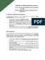 Protocolo Del Personal y Atencion Al Publico