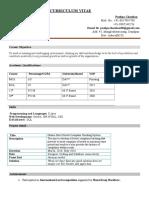 Software Developer -CV-Pushpa Chauhan