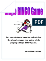 Calculating Slope Bingo Game