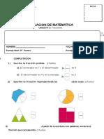 Evaluacion Matematica 4 a Unidad 2 Fracciones