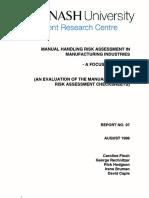 Manual Handling Risk Assesment