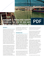 Article Building a Proactive Safety Culture Through the Use of Job Safety Analysis and Job Safety Analysis Audits Terra Et Aqua 140 2