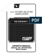 Crate GX-15 - GX15R Guitar Amplifier - Manual Del Propietario