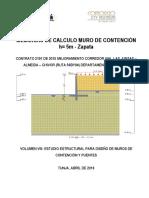 MEMORIA DE CALCULO ESTUDIO ESTRUCTURAL PARA D ISEÑO DE MUROS DE CONTENCION h=5 m -Zapata