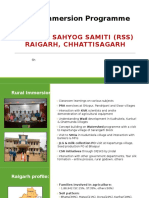 Immersion RSS Raigarh PPT