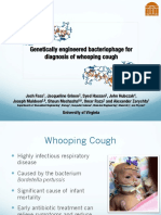 Genetically engineered bacteriophage for diagnosis of whooping cough