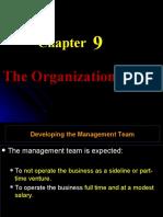 Techno 9-Organizational Plan
