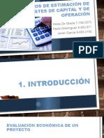 Cap. 5 - 2016 - Métodos de Estimación de Costes de Capital y de Operación