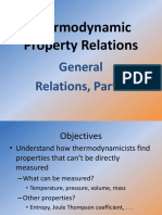 Thermodynamic Property Relations General Relations Entropy