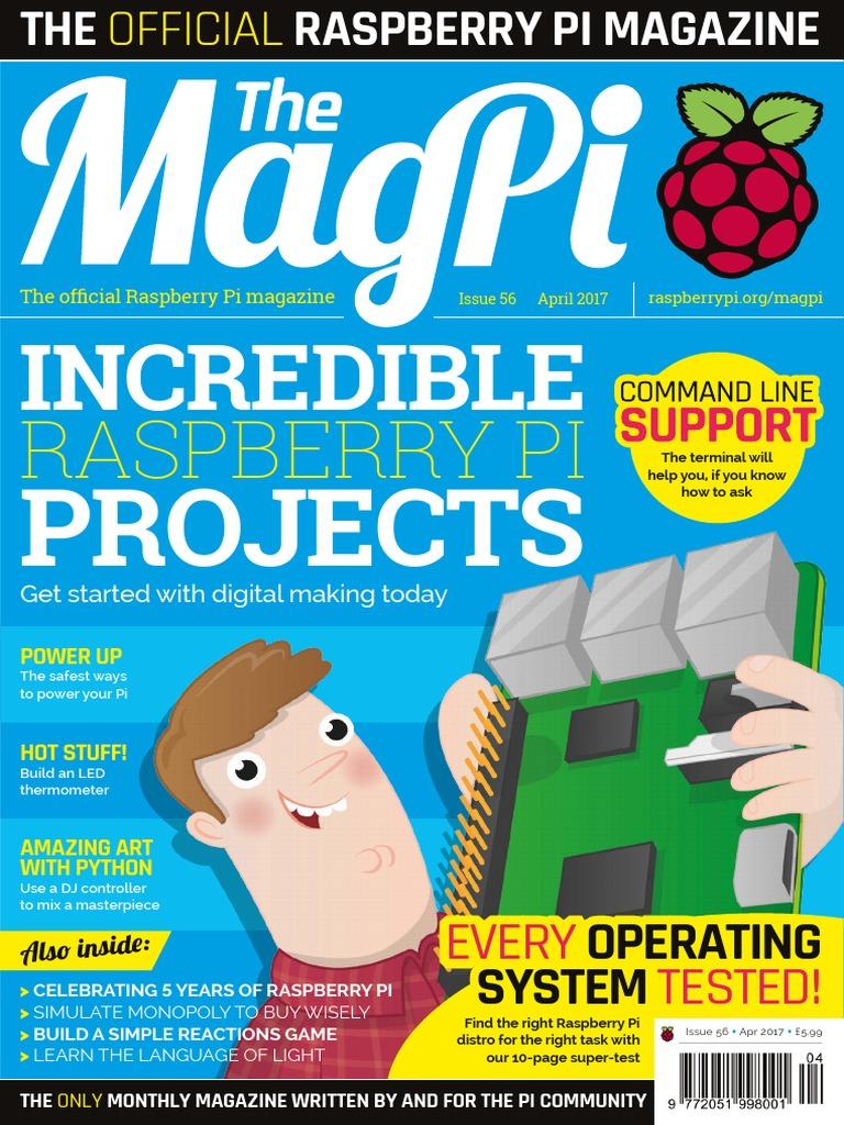 Magpi56pdf Raspberry Pi Word Press Wiringpi Ds18b20