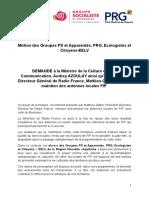 MOTION PS PRG EELV Maintien Antennes Locales de FIP