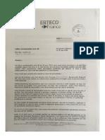 Lettre de licenciement du responsable sécurité de la région Est Carrefour Proximité