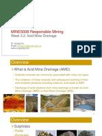 3.2 Acid Mine Drainage