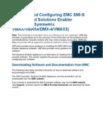 Installing and Configuring EMC SMIS