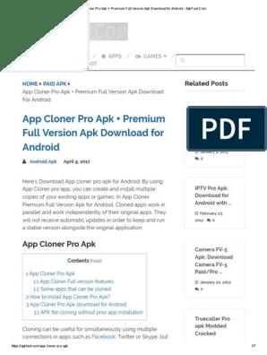 App Cloner Pro Apk + Premium Full Version Apk Download for