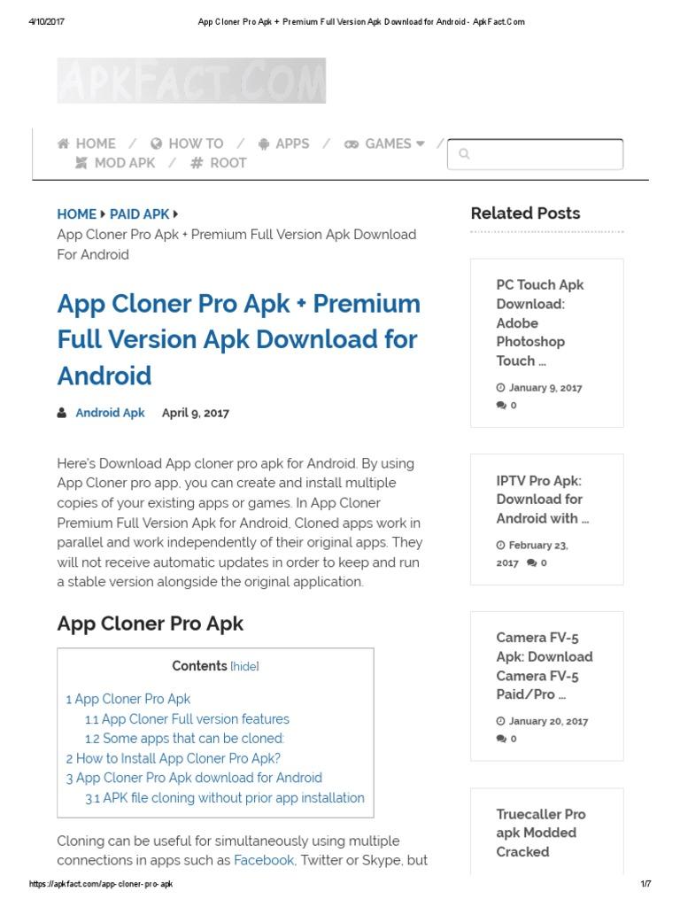 App Cloner Pro Apk + Premium Full Version Apk Download for Android
