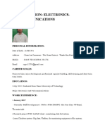Cv Application English