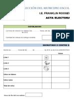ACTAS ELECTORALES